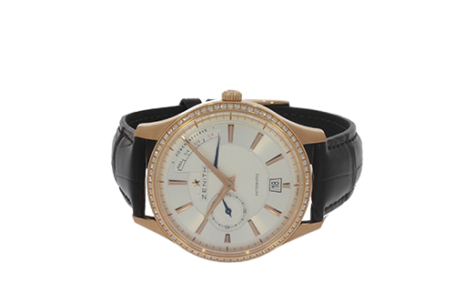 Captain Power Reserve 18k Rose gold with Diamonds